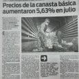 Diario Popular Edición Impresa 4/8/20 Precios de la canasta básica aumentaron 5,63% en julio.