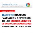 MEDICAMENTOS: DURANTE 2020 AUMENTARON POR ENCIMA DE LA INFLACIÓN Los aumentos de precios se vienen incrementando en los últimos meses. Los que más aumentan son los medicamentos más usados. Hay […]