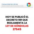 Ley 27545 de Góndolas y el Decreto Reglamentario 991